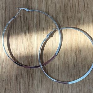 Jewelry - Large Silver Hoops